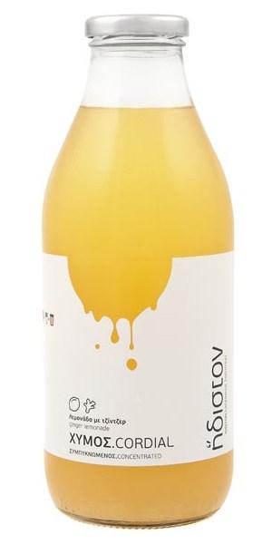 Συμπυκνωμένος χυμός λεμόνι με τζίντζερ